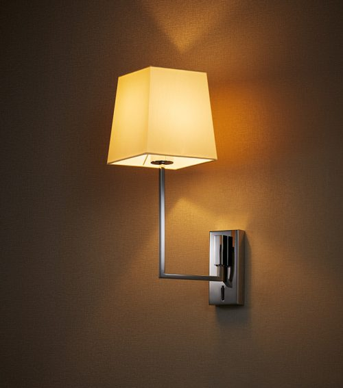 L Square Taper Wall Lamp + Switch
