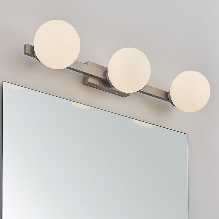 Pearl  3 Bar Wall Lamp with Opal Glass