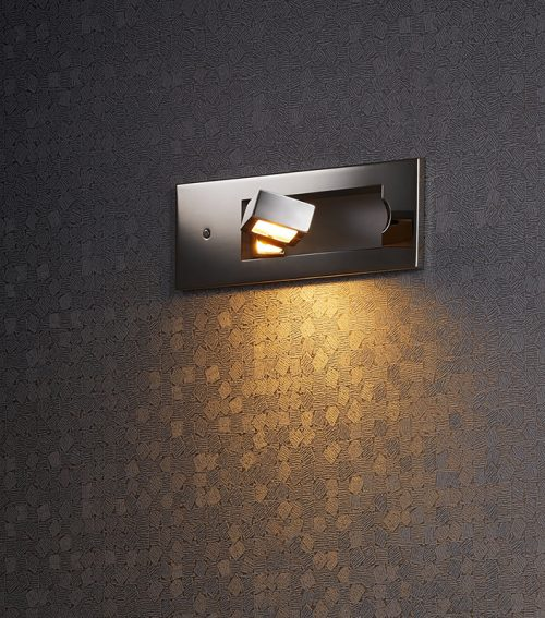 Tank Recessed Wall Lamp + Switch