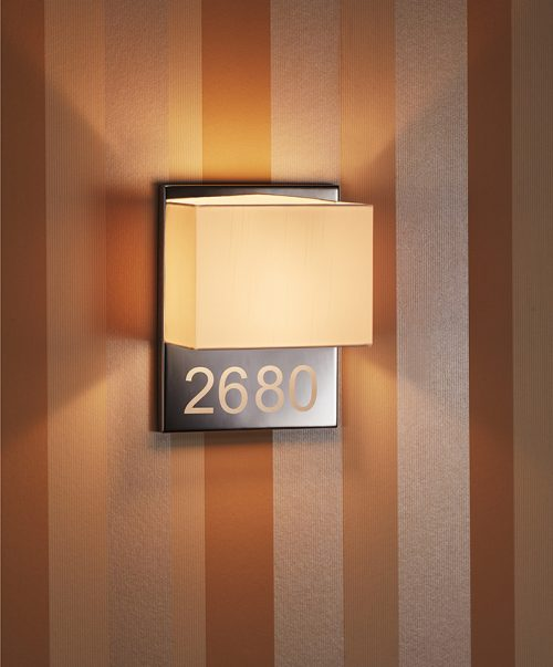 Welcome  Alphabet Wide Wall Lamp
