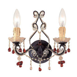 Wrought Iron Twin Wall Sconce