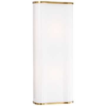 Darbon Sculpted Sconce in Hand-Rubbed Antique Brass with White Cast Glass