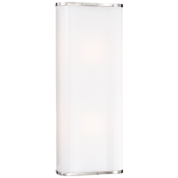 Darbon Sculpted Sconce in Polished Nickel with White Cast Glass