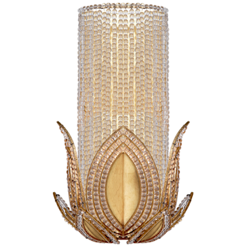Rene Wall Sconce in Gild with Clear Glass