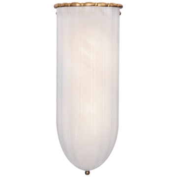 Rosehill Linear Wall Light in Hand-Rubbed Antique Brass with White Strie Glass