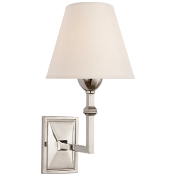 Jane Wall Sconce in Polished Nickel with Natural Paper Shade