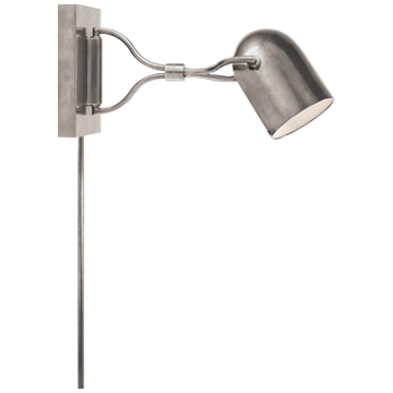 Noho Double Torchiere Sconce in Brushed Chrome