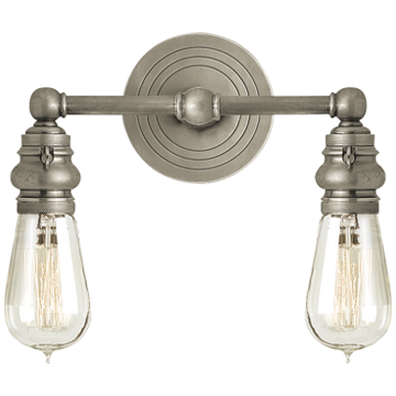 Boston Functional Double Light in Antique Nickel