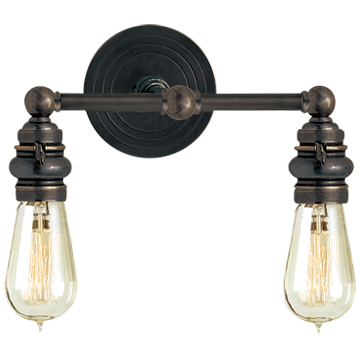 Boston Functional Double Light in Bronze