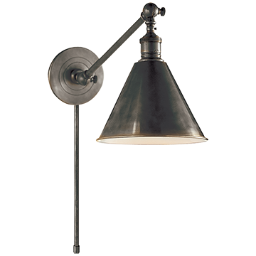 Boston Functional Single Arm Library Light in Bronze