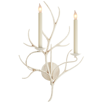 Branch Sconce in Old White