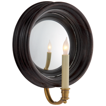 Chelsea Medium Reflection Sconce in Tudor Brown