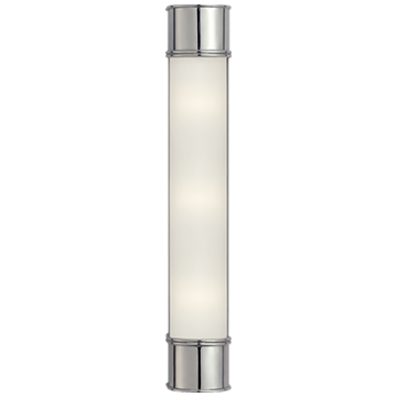 """Oxford 24"""" Bath Sconce in Chrome with Frosted Glass"""