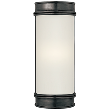"Oxford 8"" Bath Sconce in Bronze with Frosted Glass"
