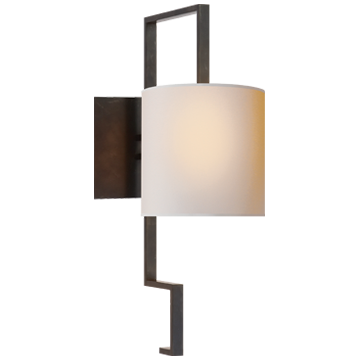 Puzzle Sconce in Bronze with Natural Paper Shade