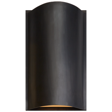 Avant Small Curve Sconce in Bronze with Frosted Glass