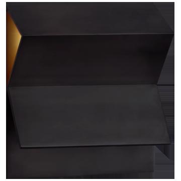 Esker Double Fold Sconce in Bronze