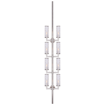 Liaison Statement Sconce in Polished Nickel with Crackle Glass