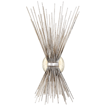 Strada Small Sconce in Burnished Silver Leaf