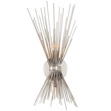 Strada Small Sconce in Polished Nickel