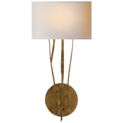 Aspen Sconce in Gilded Iron with Natural Paper Shade