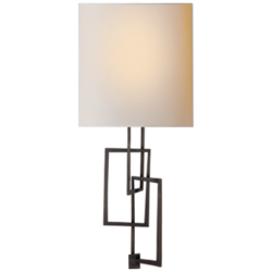 Cooper Sconce in Bronze with Natural Paper Shade