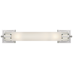 Openwork Long Sconce in Chrome with Frosted Glass