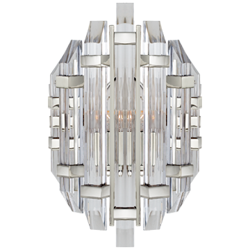 Adele Sconce in Polished Nickel with Clear Acrylic