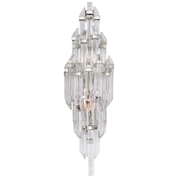 Adele Small Sconce in Polished Nickel with Clear Acrylic