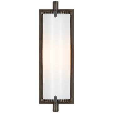 Calliope Short Bath Light in Bronze with White Glass