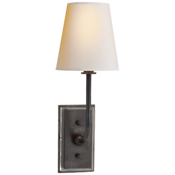 Hulton Sconce in Bronze with Natural Paper Shade