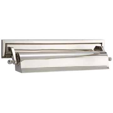 """Library 16"""" Picture Light in Polished Nickel"""