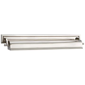 """Library 22"""" Picture Light in Polished Nickel"""
