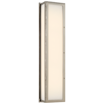 Mercer Long Box Light in Polished Nickel with White Glass