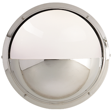 Pelham Moon Light in Polished Nickel with White Glass