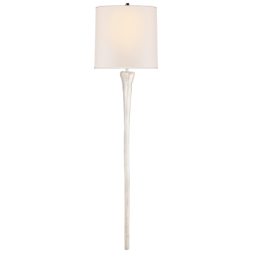Sierra Tail Sconce in Plaster White with Natural Paper Shade