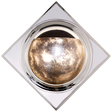 Venice Sconce in Polished Nickel with Antique Mirror