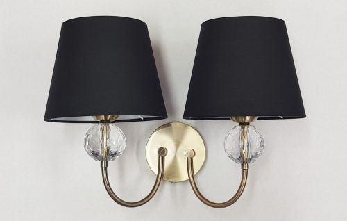 Krista Twin Wall Light with shades