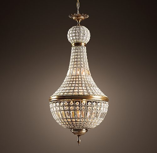 "French 21"" Empire Crystal Chandelier"