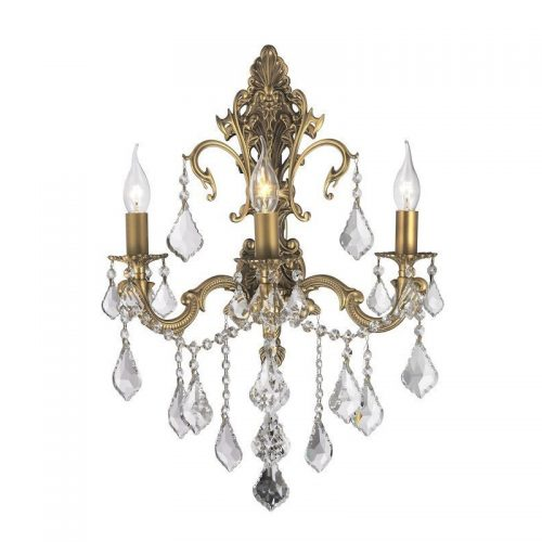 Victoria 3 Light Sconce in Brass