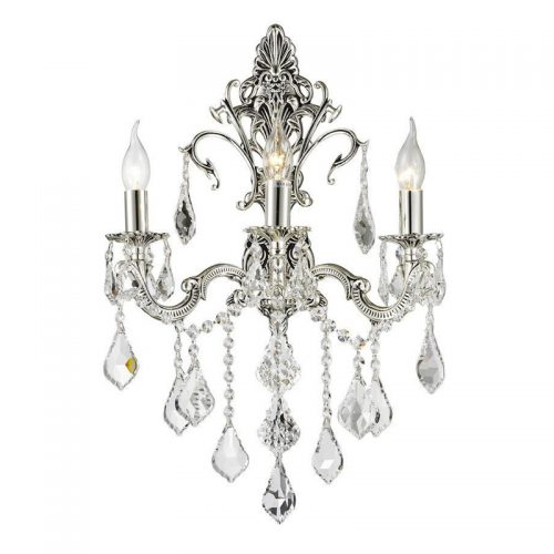 Victoria 3 Light Sconce in Silver