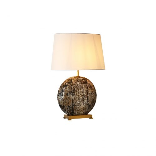 Oblate Antique Ceramic Table Lamp
