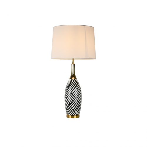 Black Cross Ceramic Table Lamp