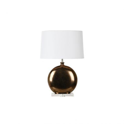 Oblate Glazed Ceramic Table Lamp