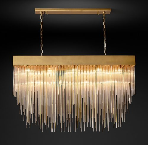 "Cascade 54"" Rectangle Chandelier"