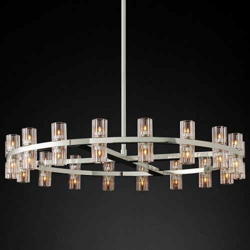 Arcachon 36 Light Chandelier in Polished Nickel