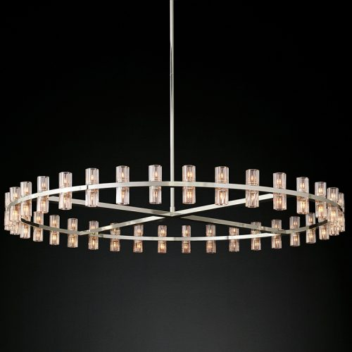 Arcachon 72 Light Chandelier in Polished Nickel