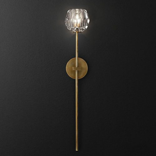 Molecule Long Sconce in Burnished Brass