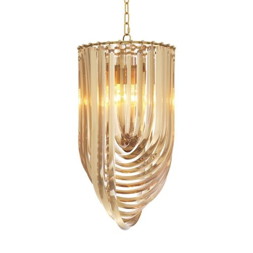 Loop 35cm Wide Glass Chandelier