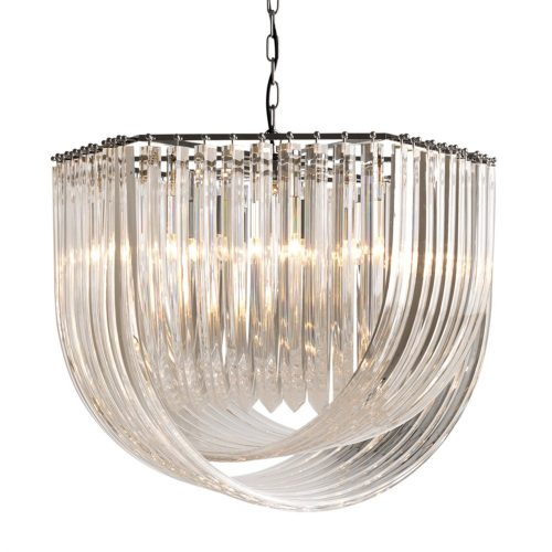 Loop Glass Chandelier
